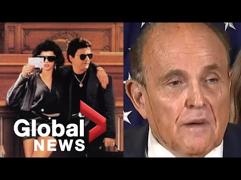 """US election: Rudy Giuliani cites """"My Cousin Vinny"""", appears to sweat hair dye during news conference"""