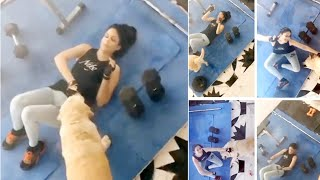 Watch: Lavanya Tripathi workout video..