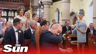 Groom moved to tears by surprise 'Stand By Me' wedding song