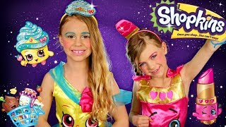 Shopkins Cupcake Queen and Lippie Lips Makeup and Costumes Dress up in Real Life