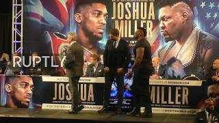 LIVE: Anthony Joshua to defend world titles against Jarrell Miller in NY: first press conference