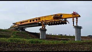 580 tonluk canavar makine Çin'de köprüler kuruyor