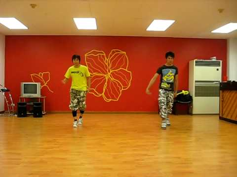 super junior  m - super girl -  rehearsal dance step with kru lot and kru shirt
