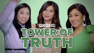 The Cast Of 'Crazy Rich Asians' Play The Tower Of Truth And Spill All Their Secrets