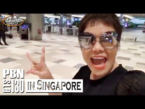 PBN 130 BTS- Việt Hương đến Singapore tham gia show PBN 130 - Glamour