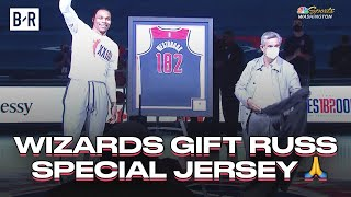 Russell Westbrook Gets Custom Wizards Jersey For Breaking Oscar Robertson's Triple-Double Record