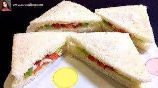 ଭେଜିଟେବଲ ସାଣ୍ଡଉଇଚ   Vegetable Sandwich Recipe l  Odia