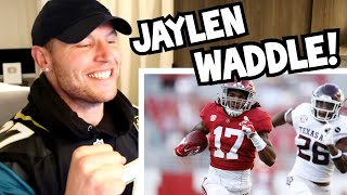 Rugby Player Reacts to JAYLEN WADDLE 2018-2020 Alabama WR College Football Career Highlights!