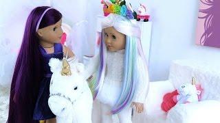 American Girl Doll Morning Routine ~ Unicorn Room