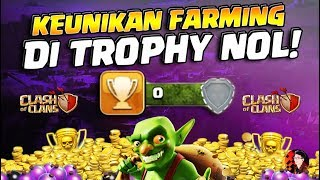 Keajaiban Farming Di Trophy Kosong! - Clash of Clans
