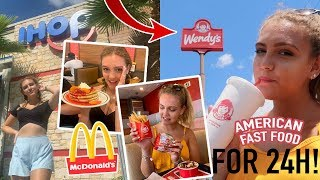 I ONLY ATE AMERICAN FAST FOOD FOR 24H...🇺🇸🍔