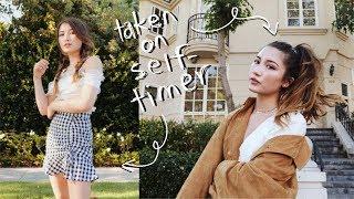 how i take instagram pics by myself 📸 - YouTube