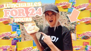 I ONLY ATE Lunchables for 24 HOURS!!