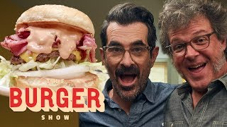 Ty Burrell Taste-Tests Classic Regional Burger Styles   The Burger Show