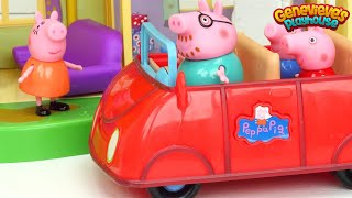 Best ♥Peppa Pig♥ Toy Learning Videos for Kids - New House and Babysitting Baby Alexander!