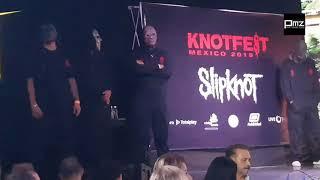 Shawn Crahan de Slikpnot en llamada telefónica.