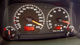 VW Golf 3 VR6 Turbo 0-280 Acceleration Sounds