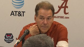 Nick Saban talks loss vs. Auburn in Iron Bowl, frustration with refs | College Football on ESPN
