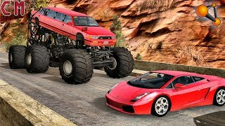 Custom Created Big Foot high speed Destruction (Monster Truck) BeamNG Drive