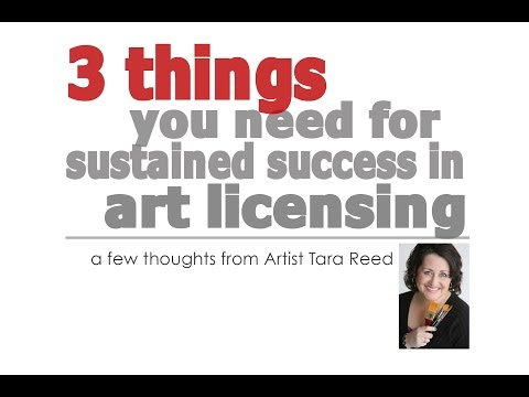 3 Things you need for Sustained Success in Art Licensing
