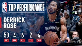 Derrick Rose Records A New CAREER HIGH 50 Points In Emotional Victory   October 31, 2018