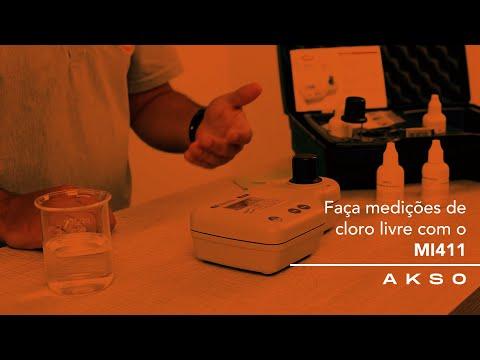 Faça medições de cloro livre com o MI411