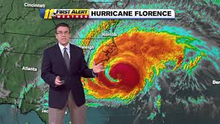 LATEST TRACK: Hurricane Florence bringing dangerous conditions as it hammers the coast