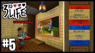THE SECRET RED LIFE ROOM..   Minecraft 3rd Life SMP   #5