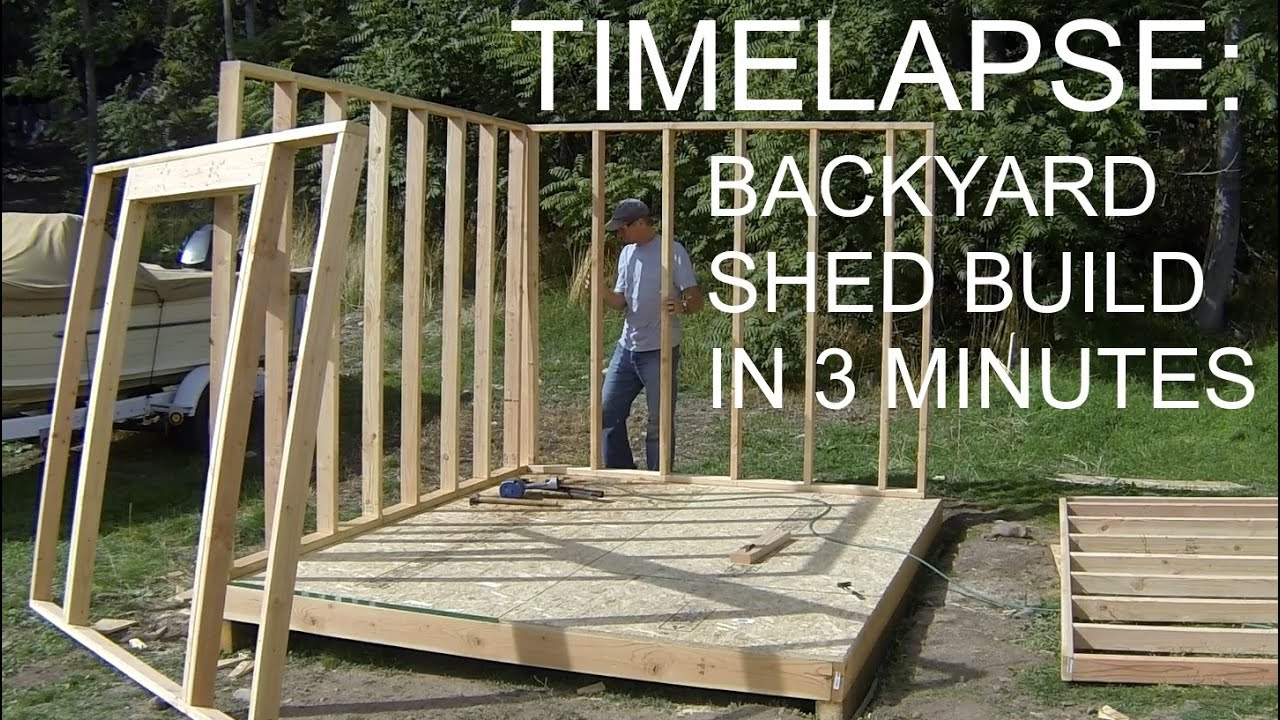 Complete Backyard Shed Build In 3 Minutes - iCreatables ...