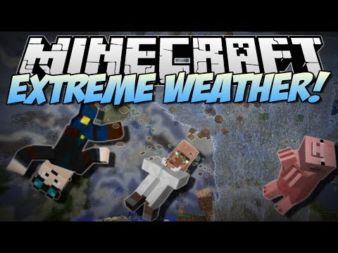 Minecraft   EXTREME WEATHER! (Tornadoes, Giant Waves & More!)   Mod Showcase - Smashpipe Games