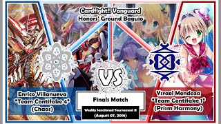 LJ(Chaos) vs BT(Prism Harmony) - Finals Match - Cardfight!! Vanguard Baguio PH