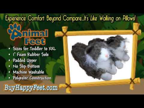 Happy Feet - Cat - Animal Slippers