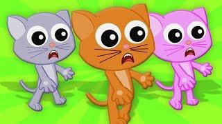 Три маленьких котенка | детские рифмы | детские песни | котята рифмы | Three Little Kitten