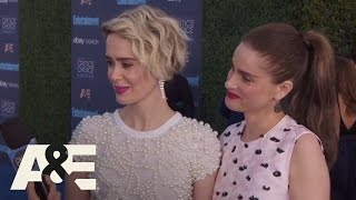 Sarah Paulson and Amanda Peet on the Red Carpet | 22nd Annual Critics' Choice Awards | A&E