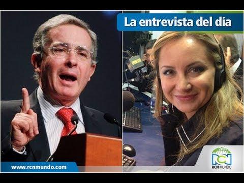 Expresidente Uribe y Natalia Springer, analista de La Fm, tuvieron fuerte debate
