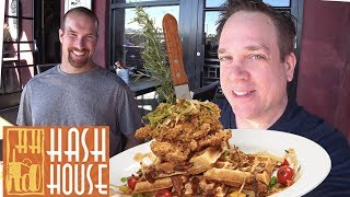 Fried Chicken and Bacon Waffles! HUGE FOOD w/ JacobslifeinVegas