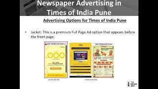 Newspaper Advertising in Times of India Pune