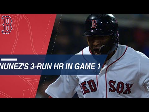 Nunez's pinch-hit, three-run homer caps Game 1 win
