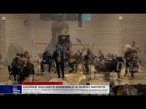 Saxophone Concerto by Andelko Igrec Miha Rogina XVIII World Sax Congress 2018 #adolphesax HD