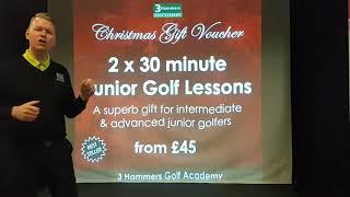 2 x 30 Minute Junior Golf Lessons Christmas Gift Voucher | 3 Hammers Golf Academy