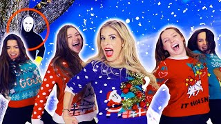 REBECCA ZAMOLO Christmas SWEATER Official Music Video! (Game Master Challenge)
