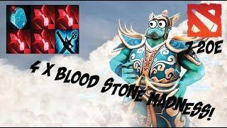 Storm Spirit - 4 Blood Stones WTF!! - Gameplay - DOTA 2 - PATCH 7.20e - 2018