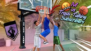 1v1 vs Trash Talking Subscribers in Basketball!