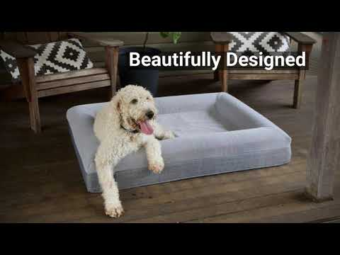 Solid Memory Foam Dog Bed