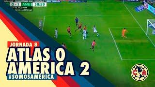 Resumen y goles Atlas 0-2 América Jornada 7 Liga MX Guard1anes2021