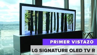 LG Signature OLED TV R: El televisor flexible y enrollable que se podrá comprar