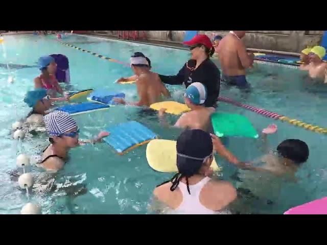影/文德小學暑期教學 訓練學童基本游泳與自救能力