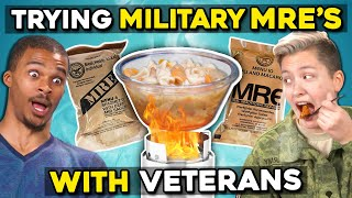 Military Members Eat Military Meals (MREs) With Civilians | People Vs. Food