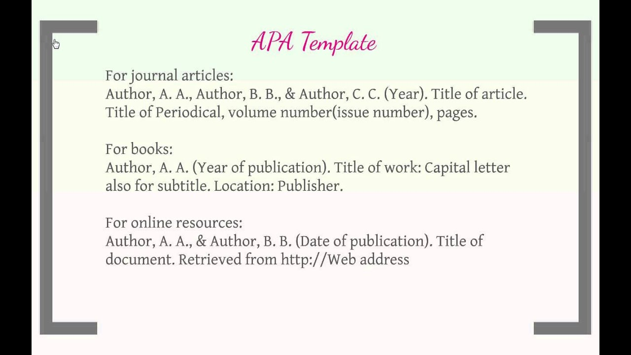 Apa papers assistance