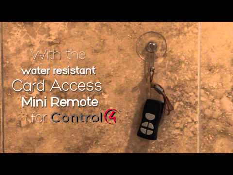 Shower Music Control with Control4 and Card Access